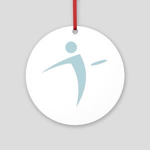 Nano Disc Golf BABY BLUE Logo Ornament (Round)