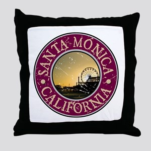 Santa Monica, California Throw Pillow