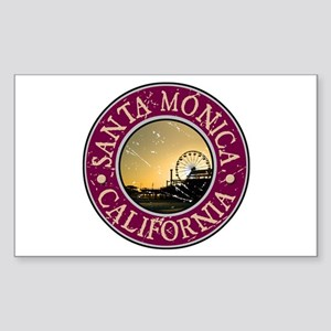 Santa Monica, California Sticker (Rectangle)
