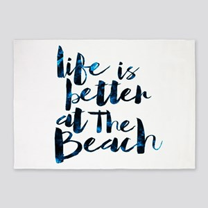 Better At The Beach II 5'x7'Area Rug