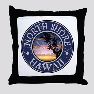 North Shore, Hawaii Throw Pillow