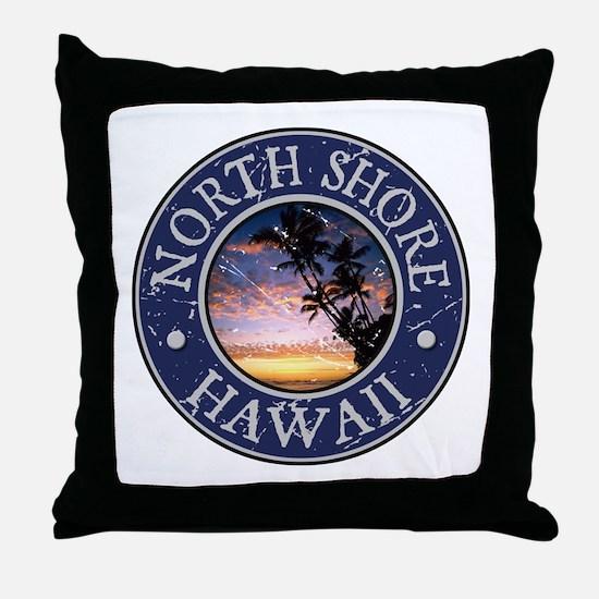 North Shore, Hawaii Throw Pillow