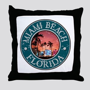 Miami Beach, Florida Throw Pillow