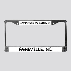 Happiness is Asheville License Plate Frame