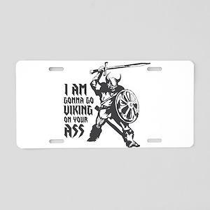 I'm gonna go Viking Aluminum License Plate