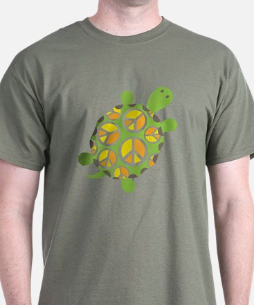 Peace Sign Turtle T-Shirt