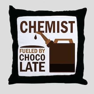 Chemist Chocoholic Gift Throw Pillow