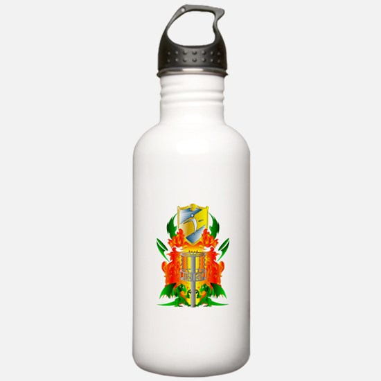 Color Disc Golf Coat of Arms Water Bottle