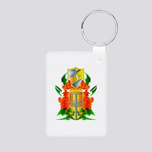 Color Disc Golf Coat of Arms Aluminum Photo Keycha