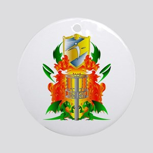 Color Disc Golf Coat of Arms Ornament (Round)