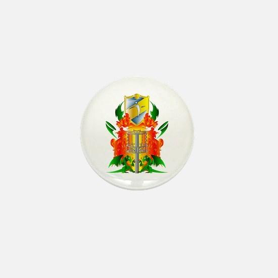 Color Disc Golf Coat of Arms Mini Button