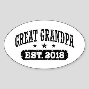 Great Grandpa Est. 2018 Sticker (Oval)
