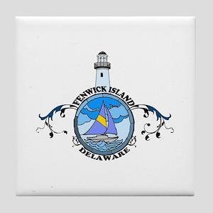 Fenwick Island DE - Lighthouse Design Tile Coaster