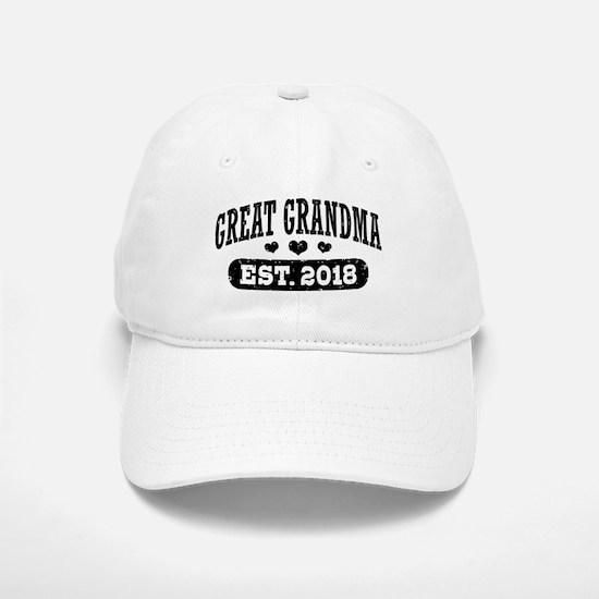 Great Grandma Est. 2018 Baseball Baseball Cap
