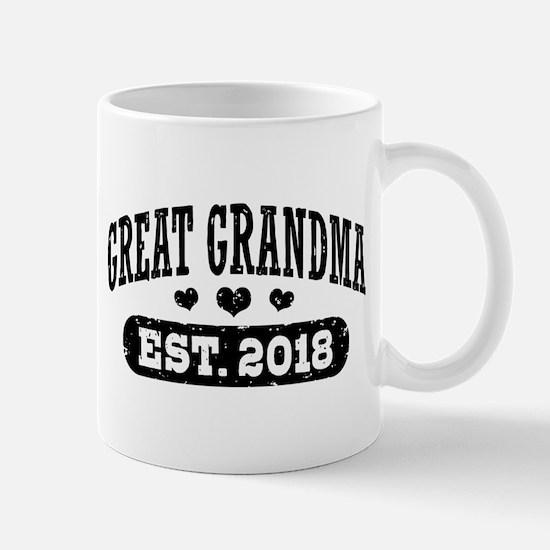 Great Grandma Est. 2018 Mug