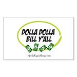 Dolla Dolla Bill Y'all Sticker (Rectangle 10 pk)