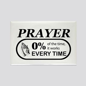 Prayer 0 percent Rectangle Magnet