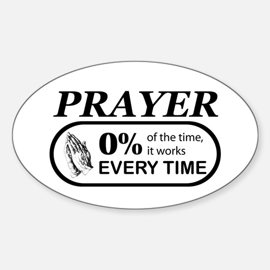 Prayer 0 percent Sticker (Oval)