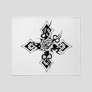 rose cross Throw Blanket