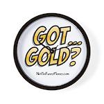Got Gold 01 Wall Clock