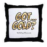 Got Gold 01 Throw Pillow
