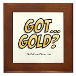 Got Gold 01 Framed Tile