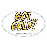 Got Gold 01 Sticker (Oval)