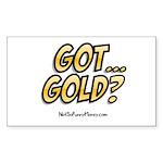 Got Gold 01 Sticker (Rectangle)