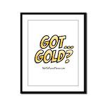 Got Gold 01 Framed Panel Print