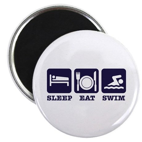 "Sleep eat swim 2.25"" Magnet (100 pack)"