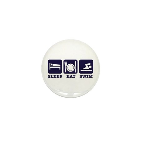 Sleep eat swim Mini Button (10 pack)