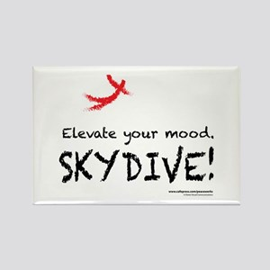 Elevate Your Mood Skydiver Rectangle Magnet