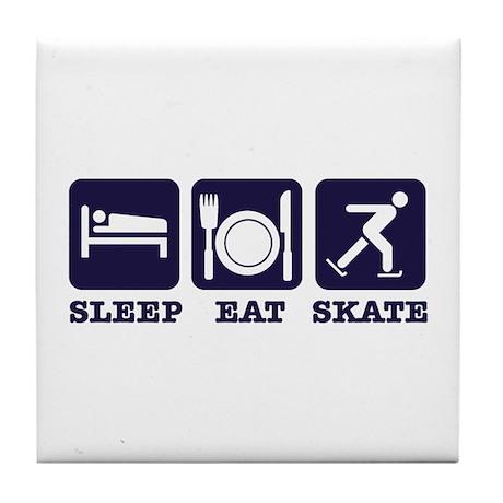 Sleep eat ice skate Tile Coaster