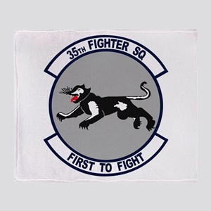 35th Fighter Squadron Throw Blanket