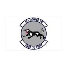 35th Fighter Squadron 38.5 x 24.5 Wall Peel