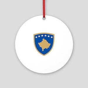 Kosovo Coat of Arms Ornament (Round)