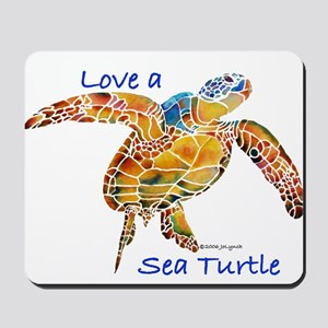 LOVE A Sea Turtle Mousepad