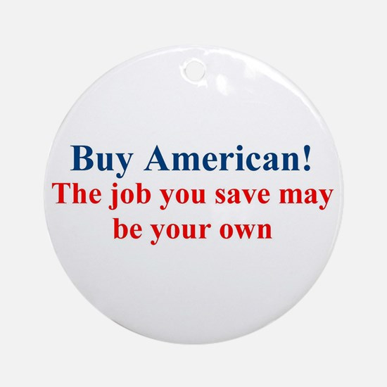 Buy American Round Ornament