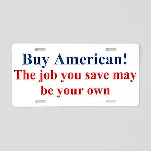 Buy American Aluminum License Plate
