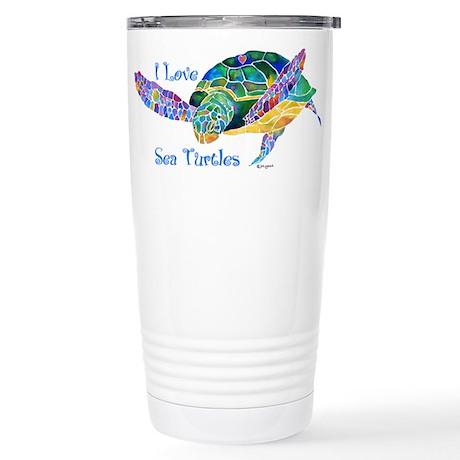 Beautiful Sea Turtle Stainless Steel Travel Mug