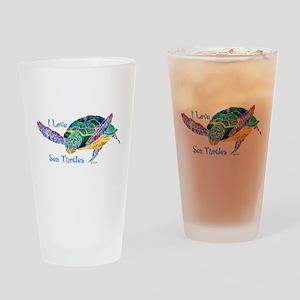 Beautiful Sea Turtle Drinking Glass