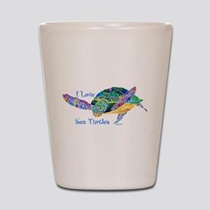 Beautiful Sea Turtle Shot Glass