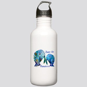 Save The Manatees in Blues Stainless Water Bottle