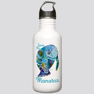Save The Manatees Stainless Water Bottle 1.0L