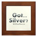 Got Silver 01 Framed Tile