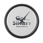 Got Silver 01 Large Wall Clock