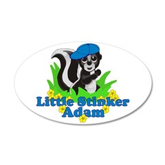 Little Stinker Adam 38.5 x 24.5 Oval Wall Peel