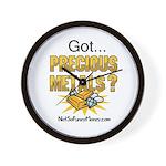 Got Precious Metals 01 Wall Clock