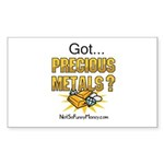 Got Precious Metals 01 Sticker (Rectangle 10 pk)