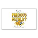 Got Precious Metals 01 Sticker (Rectangle 50 pk)